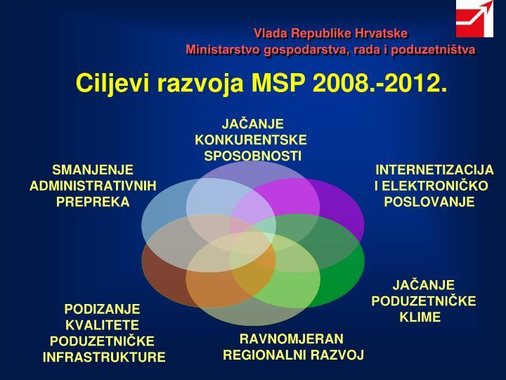 Ciljevi razvoja MSP 2008.-2012.