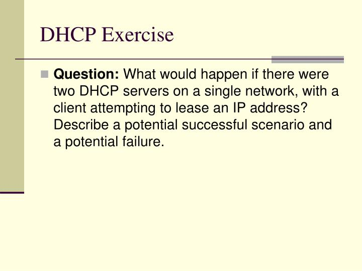DHCP Exercise