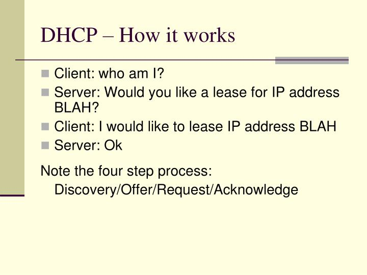 DHCP – How it works