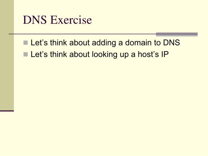 DNS Exercise