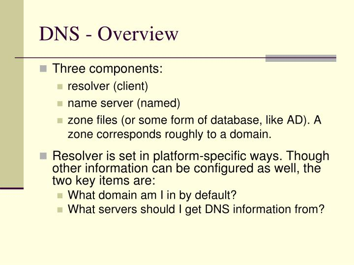DNS - Overview