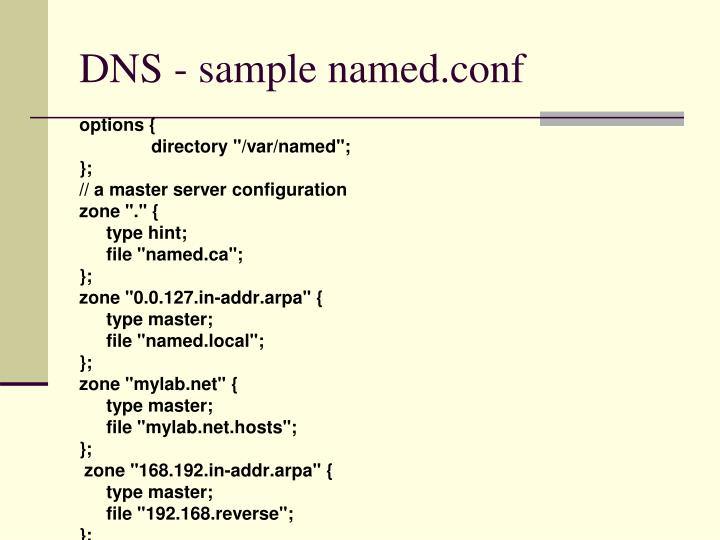 DNS - sample named.conf