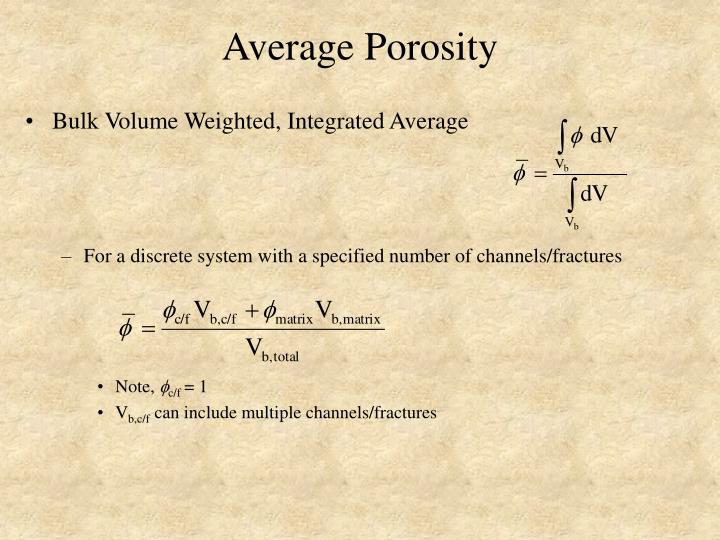 Average Porosity