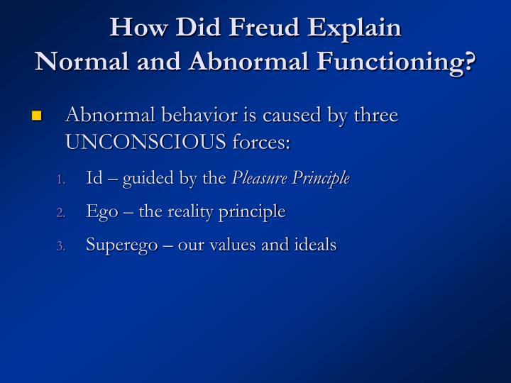 How Did Freud Explain