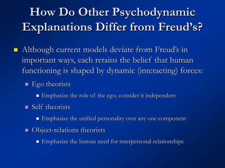 How Do Other Psychodynamic Explanations Differ from Freud's?