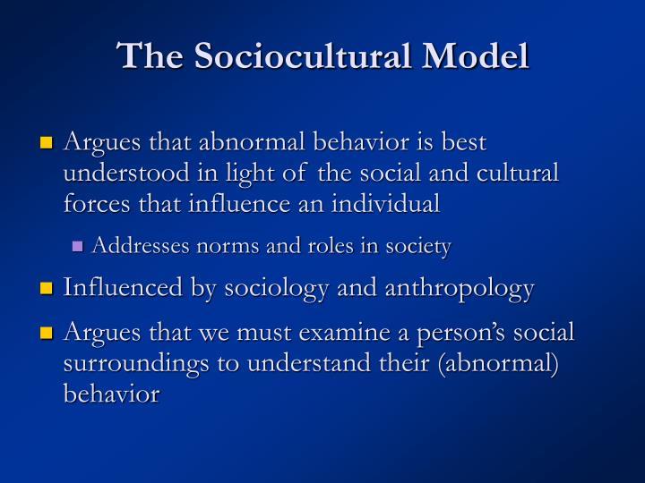 The Sociocultural Model