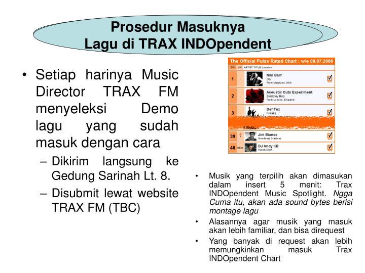 Insert TRAX INDOpendent