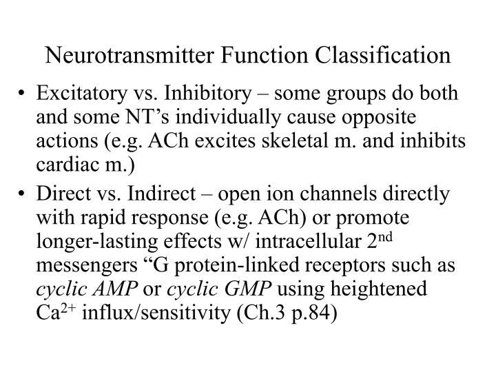 Neurotransmitter Function Classification
