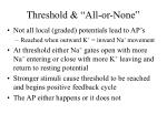 threshold all or none