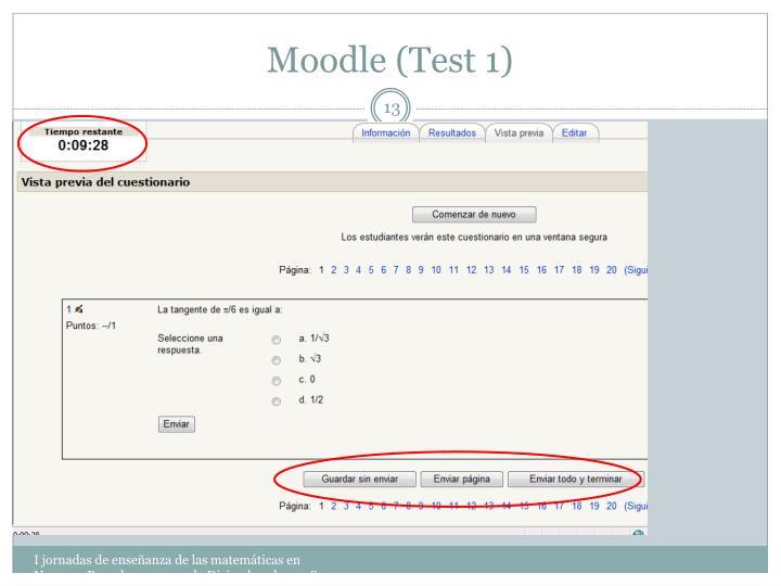 Moodle (Test 1)
