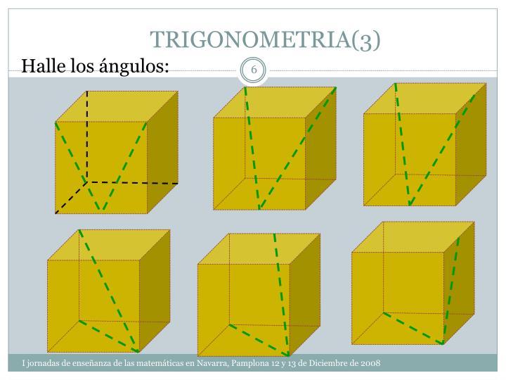 TRIGONOMETRIA(3)