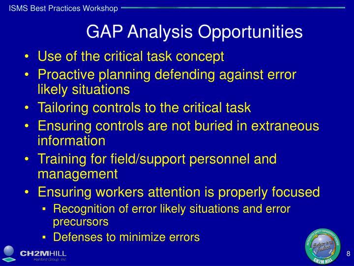 GAP Analysis Opportunities