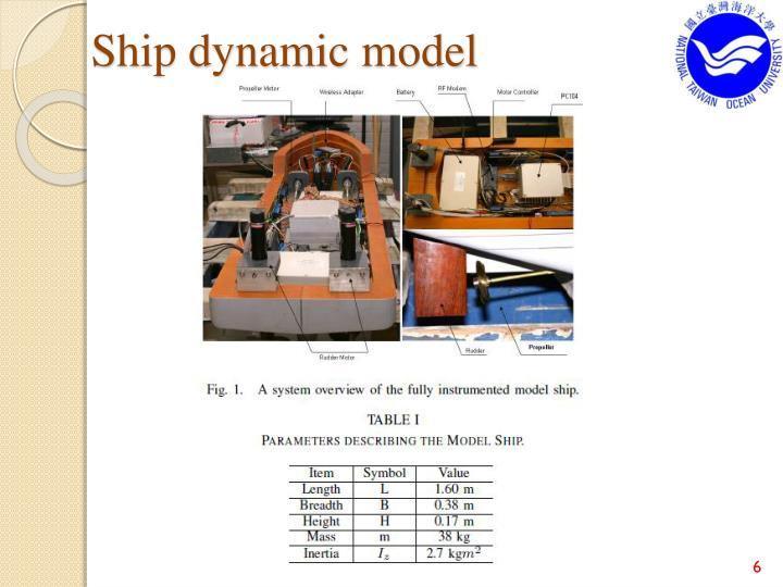 Ship dynamic model