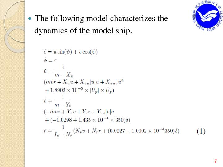 The following model characterizes the