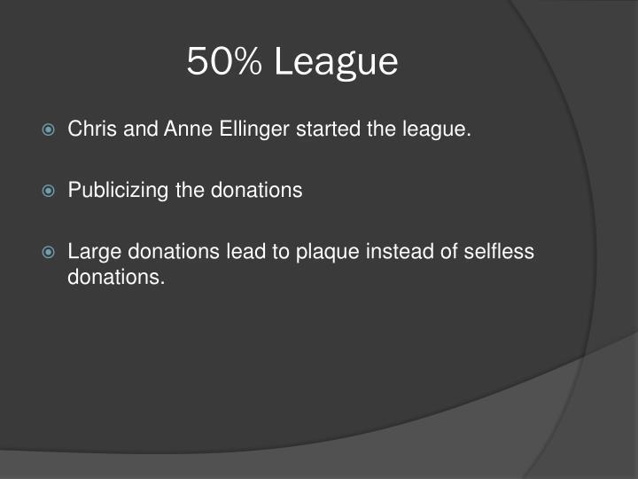 50% League