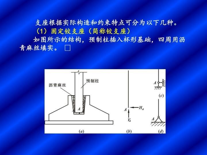 支座根据实际构造和约束特点可分为以下几种