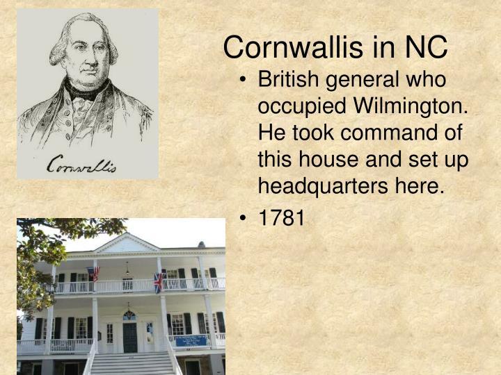 Cornwallis in NC