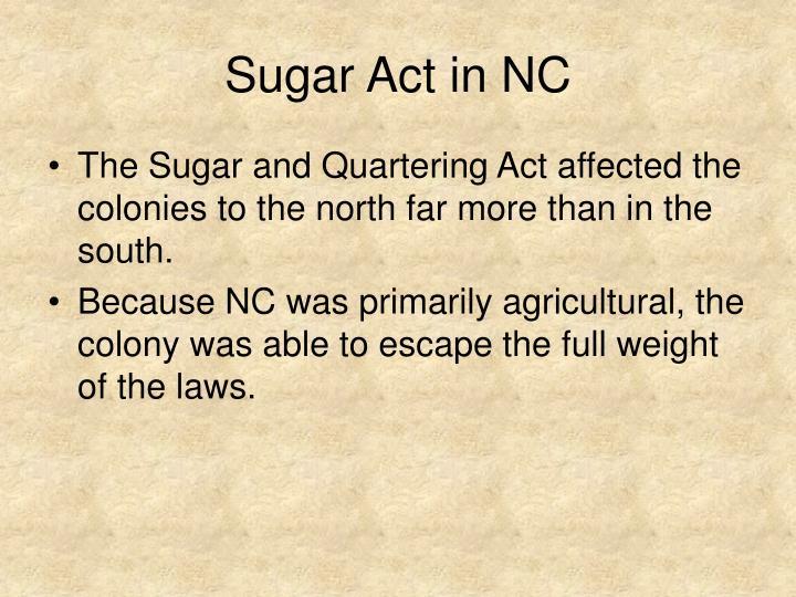 Sugar Act in NC