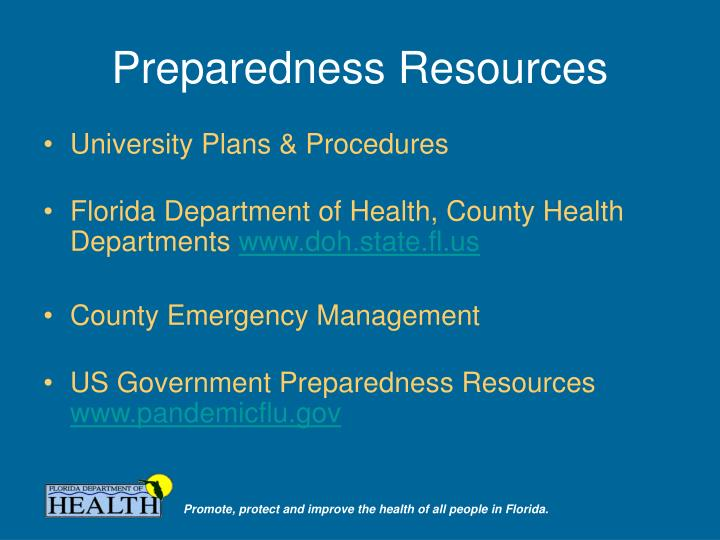Preparedness Resources