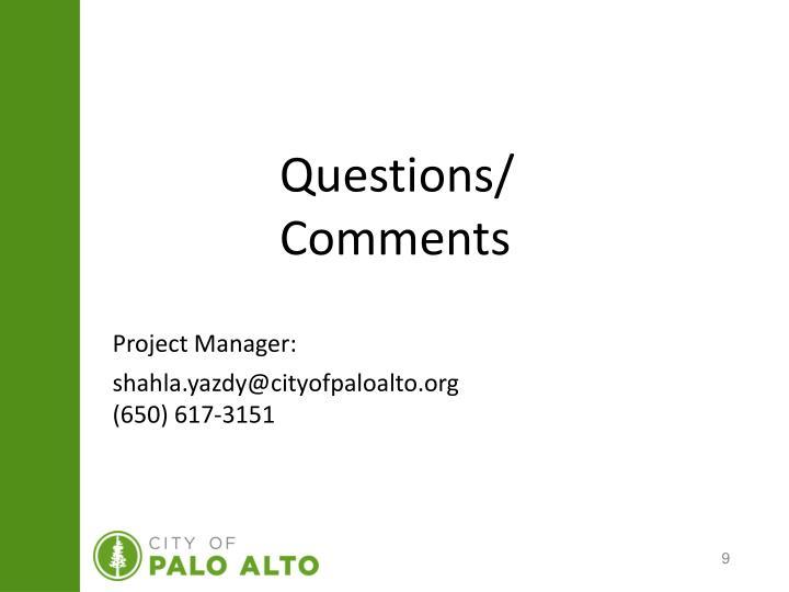 Questions/