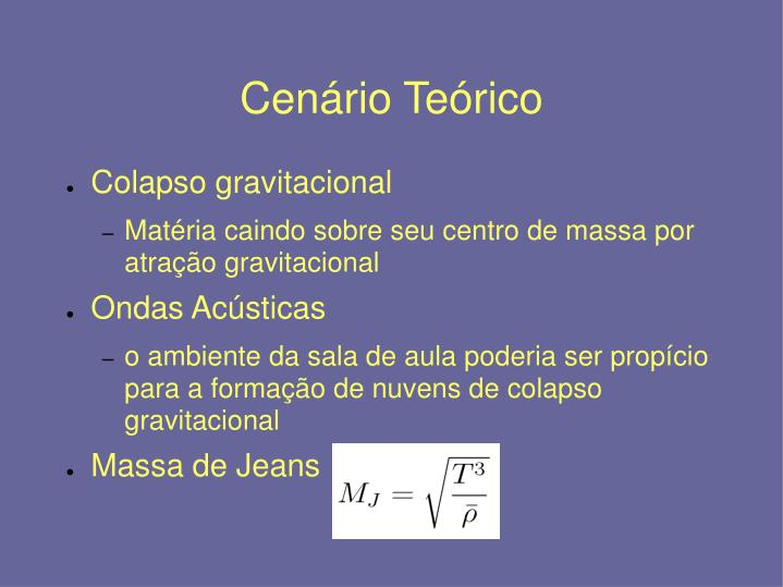Cenário Teórico