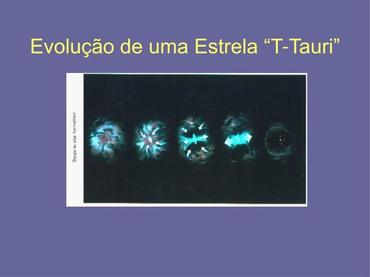 """Evolução de uma Estrela """"T-Tauri"""""""