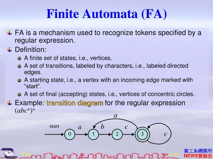 Finite Automata (FA)
