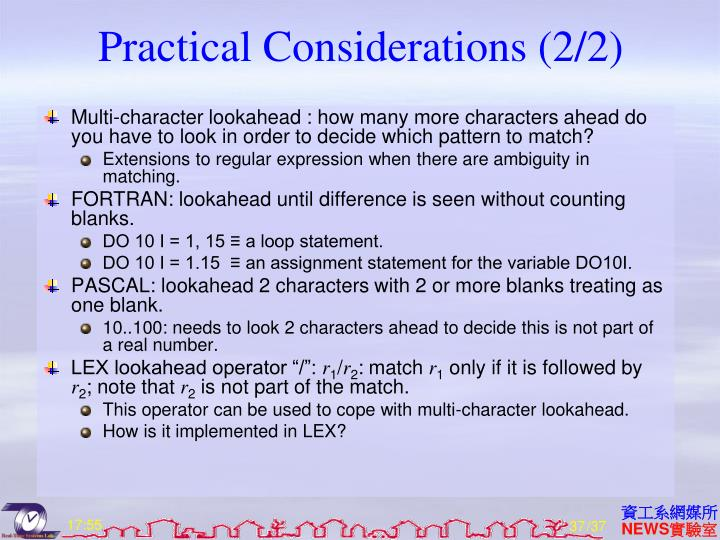 Practical Considerations (2/2)
