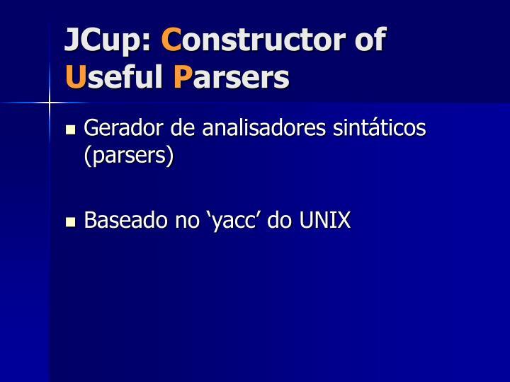 JCup: