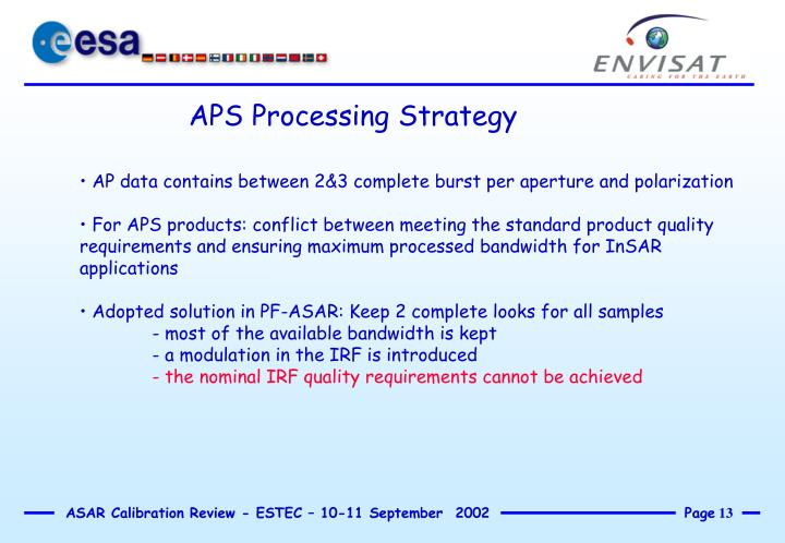 APS Processing Strategy