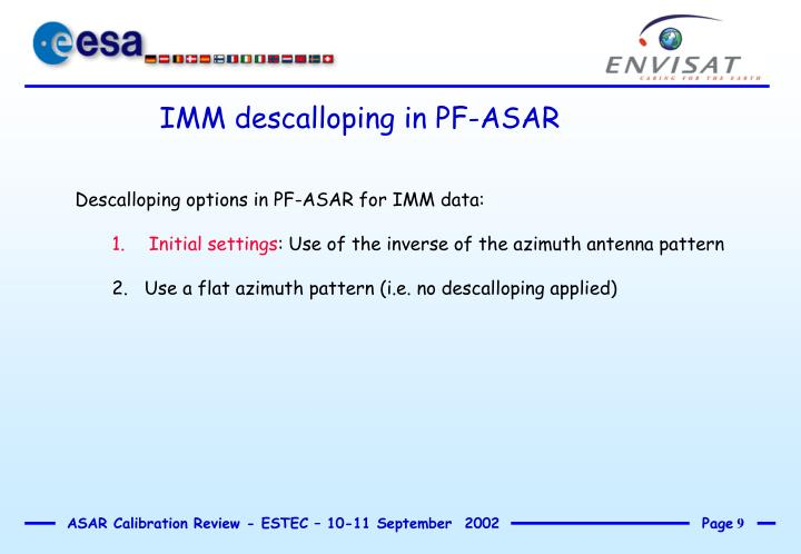 IMM descalloping in PF-ASAR