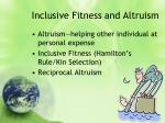 inclusive fitness and altruism