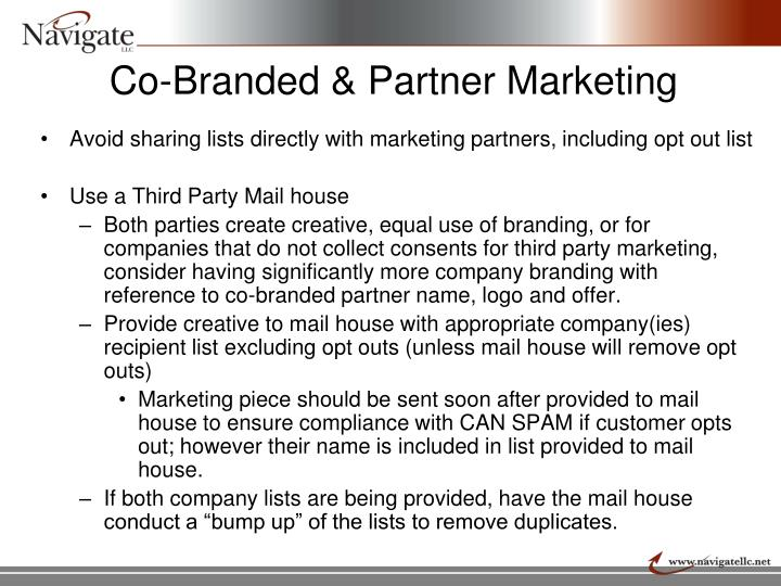 Co-Branded & Partner Marketing