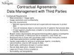 contractual agreements data management with third parties1