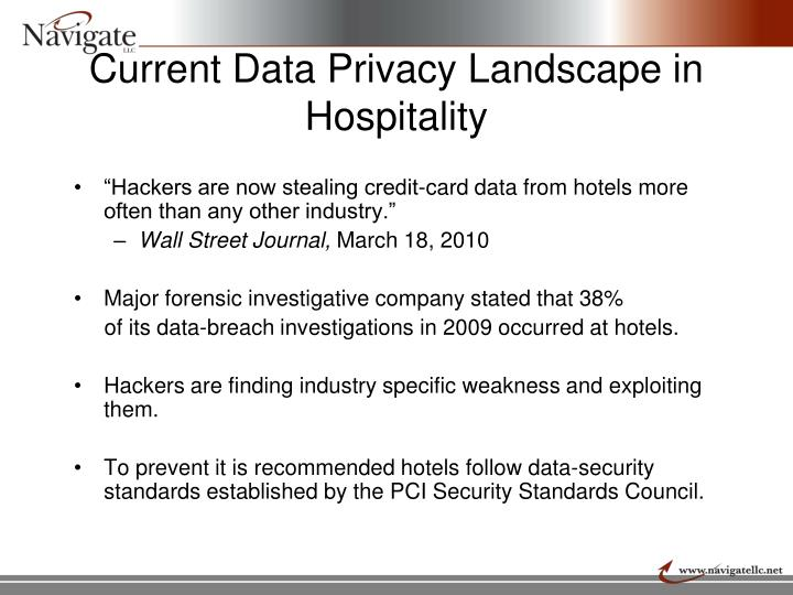 Current Data Privacy Landscape in Hospitality