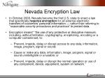 nevada encryption law
