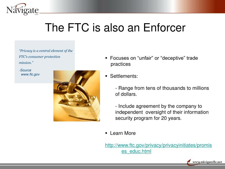 The FTC is also an Enforcer
