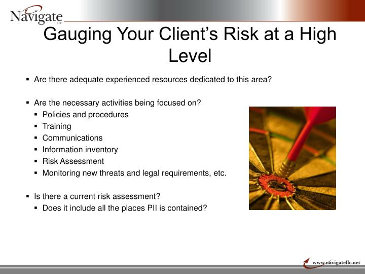 Gauging Your Client's Risk at a High Level