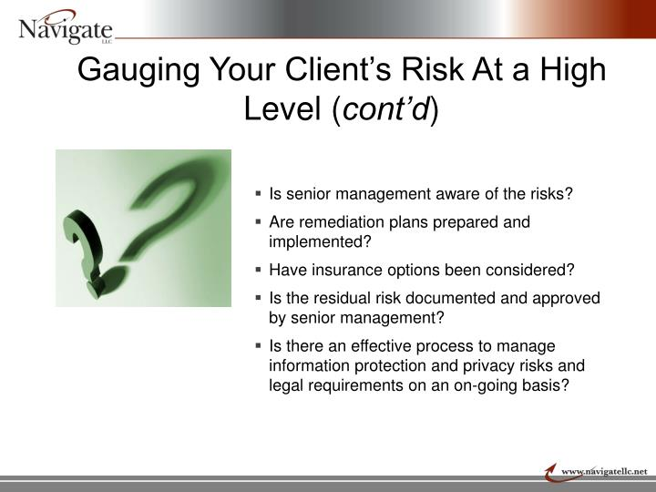 Gauging Your Client's Risk At a High Level (