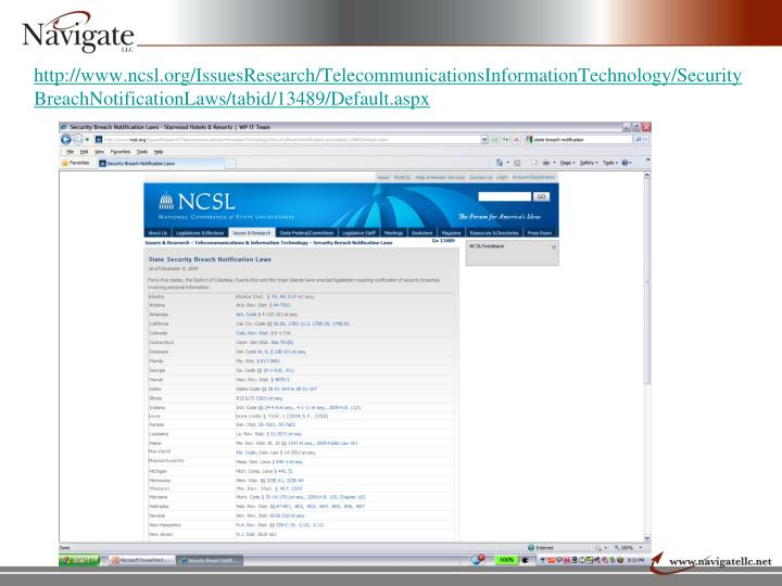 http://www.ncsl.org/IssuesResearch/TelecommunicationsInformationTechnology/SecurityBreachNotificationLaws/tabid/13489/Default.aspx
