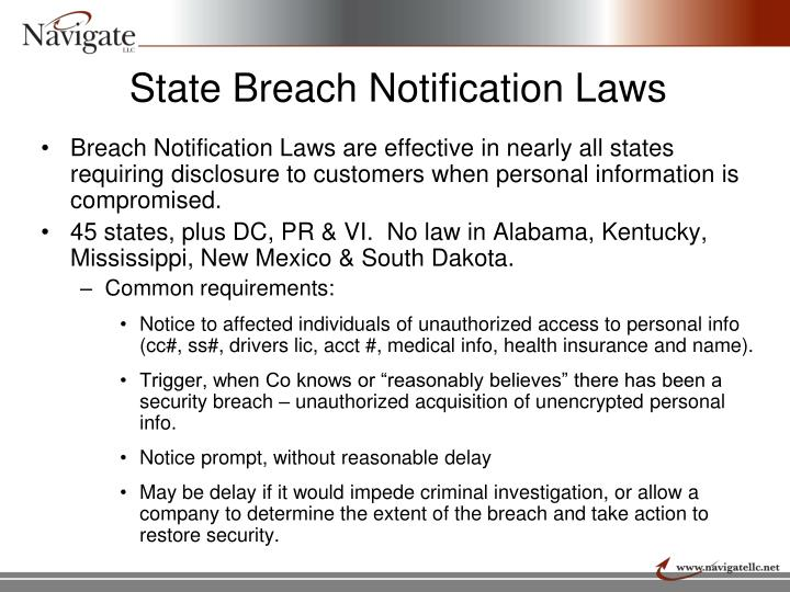 State Breach Notification Laws
