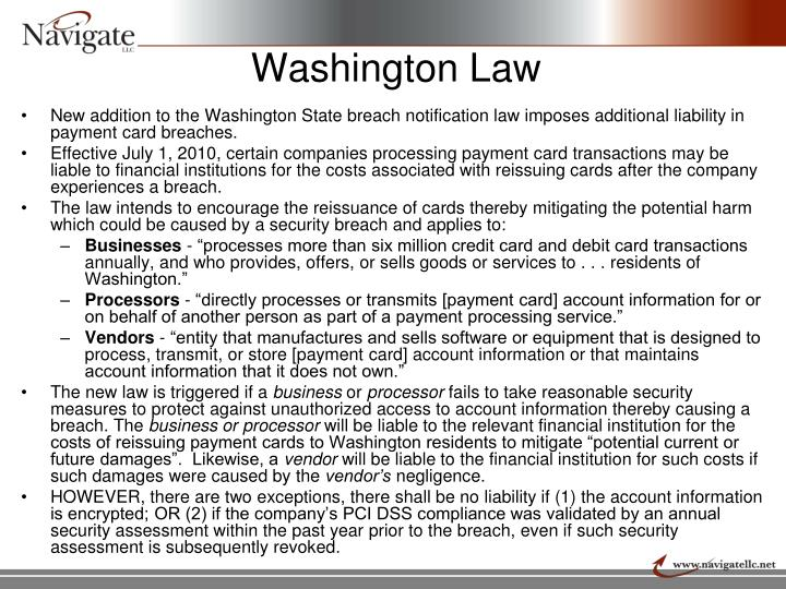Washington Law