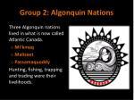 group 2 algonquin nations