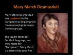 mary march desmasduit