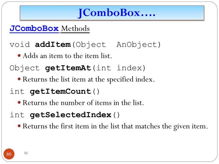 JComboBox
