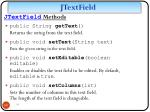 jtextfield methods