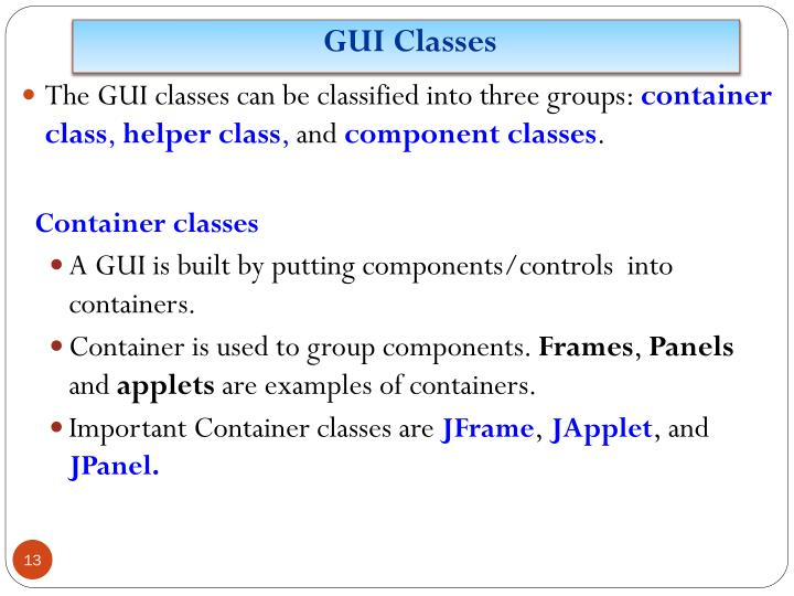 GUI Classes