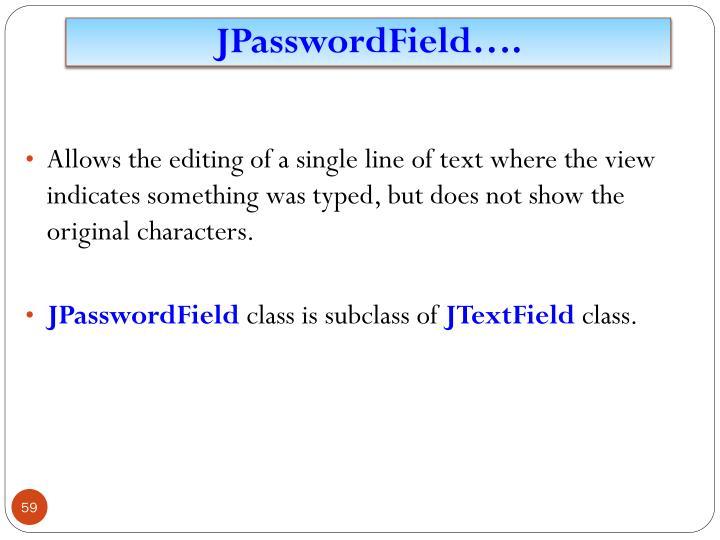 JPasswordField