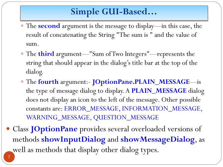 Simple GUI-Based…