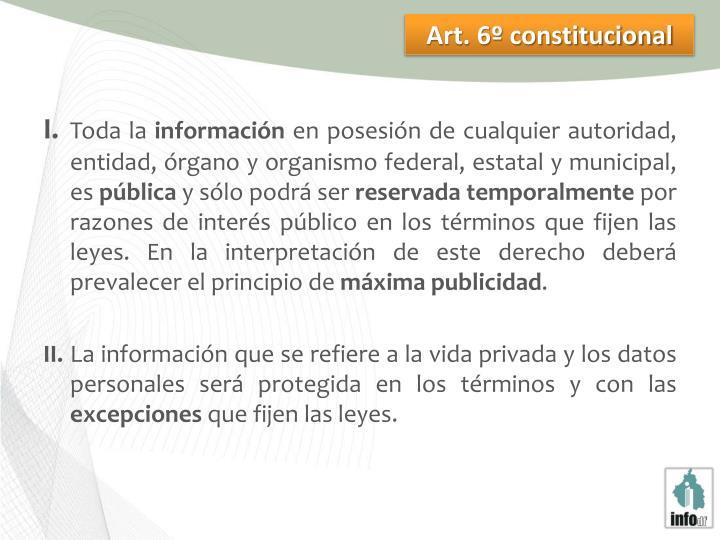 Art. 6º constitucional